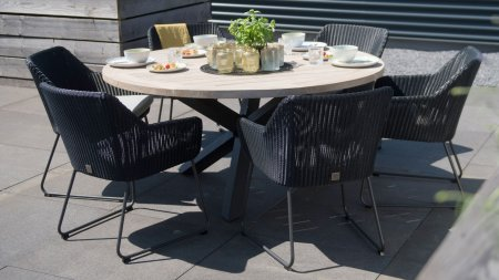 4 seasons outdoor avila diningset anthrazit