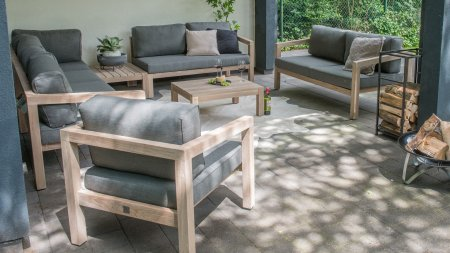 4 seasons outdoor evora loungeset teak