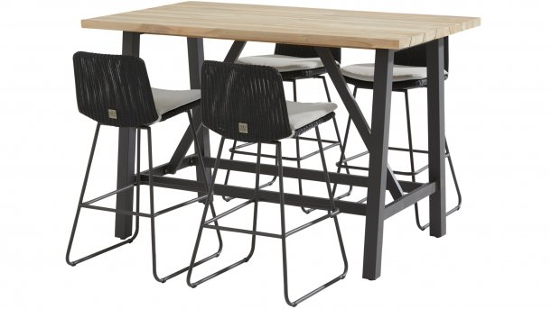 4 seasons outdoor avila bar set mit derby bartisch