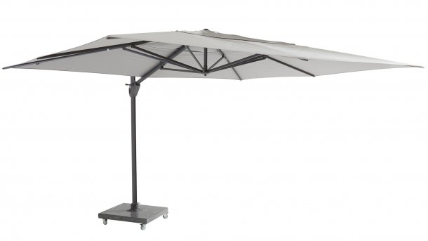 4 seasons outdoor hacienda Ampelschirm 300x400cm mid grey