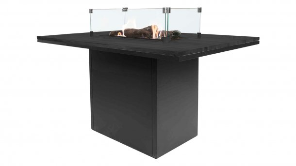 cosi fires cosiloft relax table black black with glasset hohe feuertisch