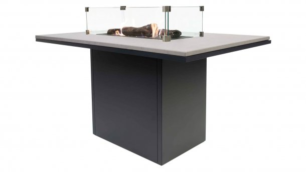 cosi fires cosiloft relax table black grey with glasset dining tisch feuertisch