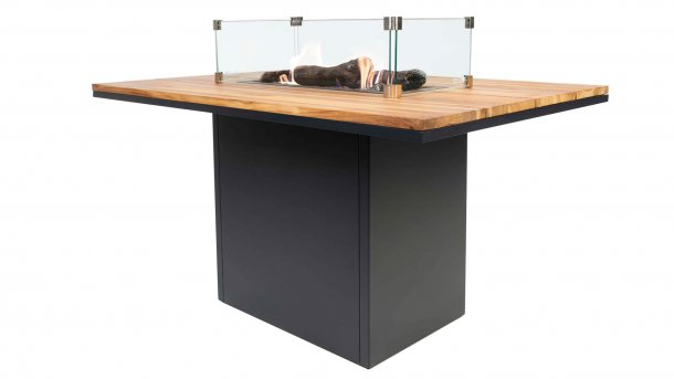 cosi fires cosiloft relax table black teak with glasset