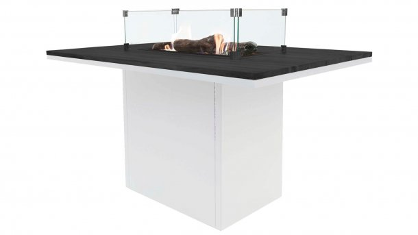 cosi fires cosiloft relax table white black with glasset