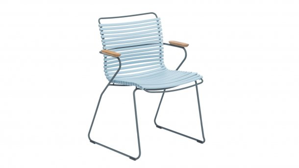 houe click dining met arm dusty light blue