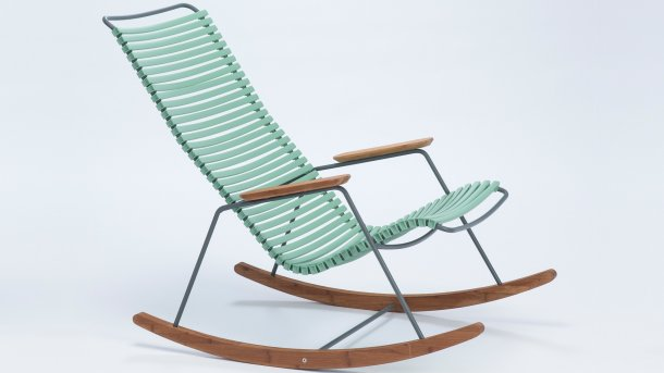 houe click rocking chair dusty light blue