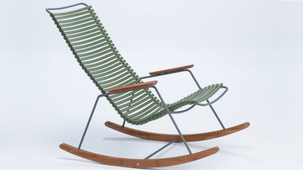 houe click rocking chair olive green