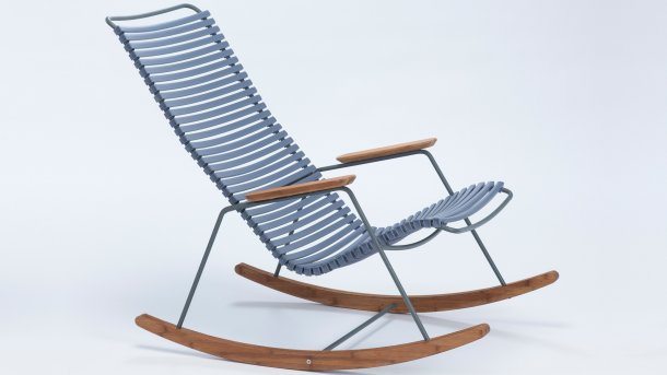 houe click rocking chair pigeon blue