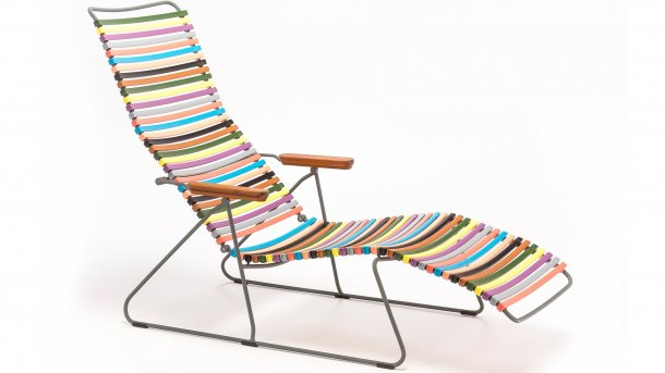 houe click sunlounger multi color 1