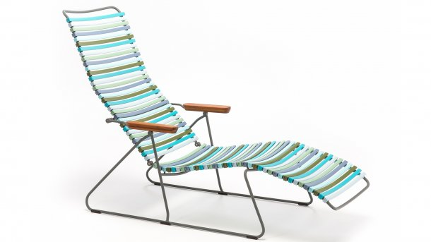 houe click sunlounger multi color 2