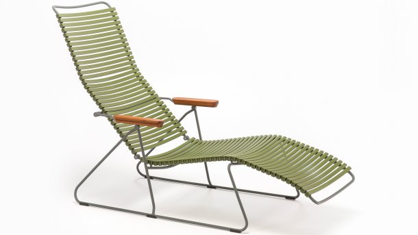 houe click sunlounger olive green
