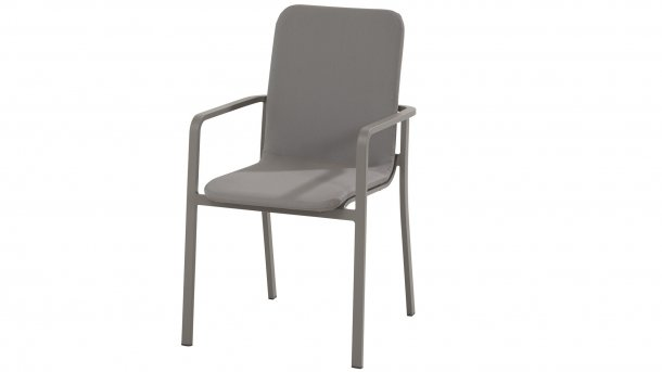 taste by 4seasons bergamo stacking chair slate grey