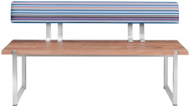 zebra quadux bank 140x43 mit rucklehne blue stripe